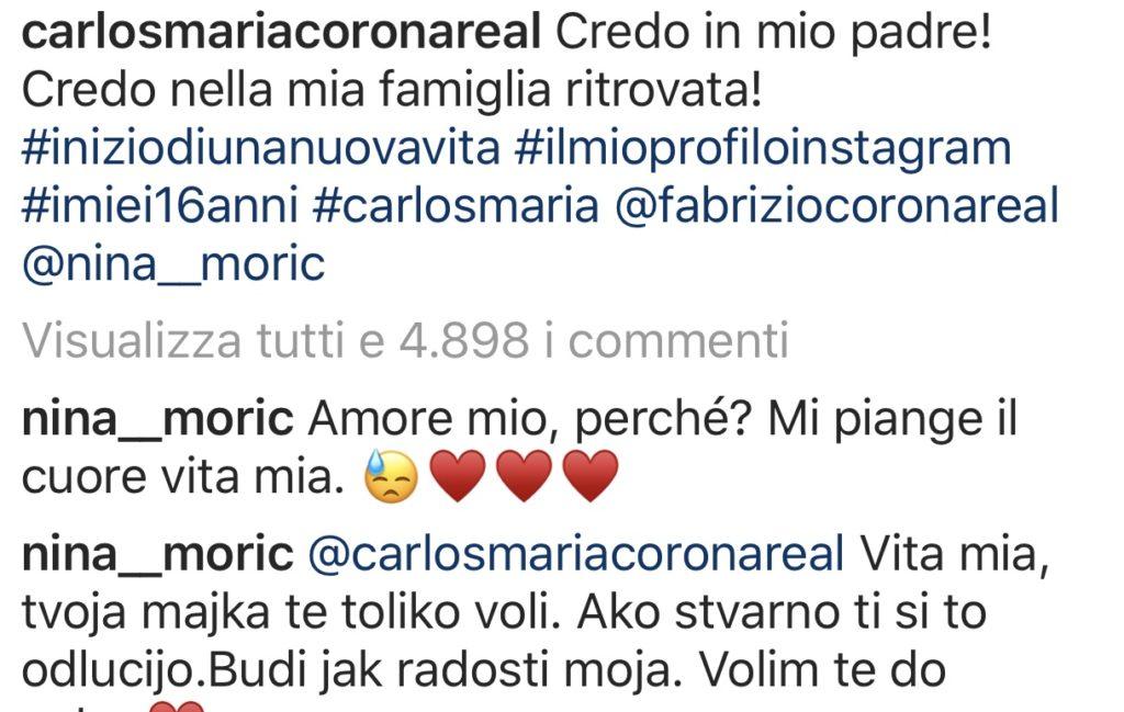 Carlos-Maria-Corona-su-Instagram-figlio-di-Fabrizio-Corona-e-Nina-Moric-just4mom