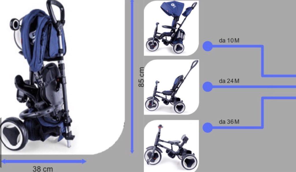 Triciclo pieghevole QPlay Rito + recensione caratteristiche