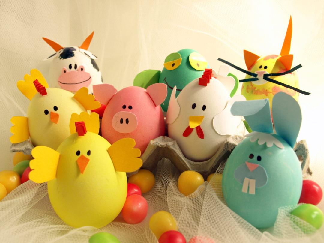 lavoretti di pasqua con le uova per bambini